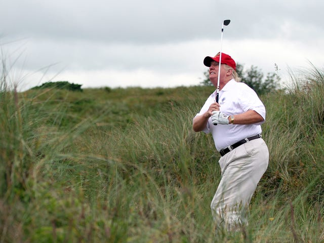 Who Created the Fake Donald TrumpTime Cover Hanging Up at His Golf Courses?