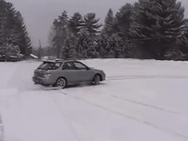 Subaru owners in the snow