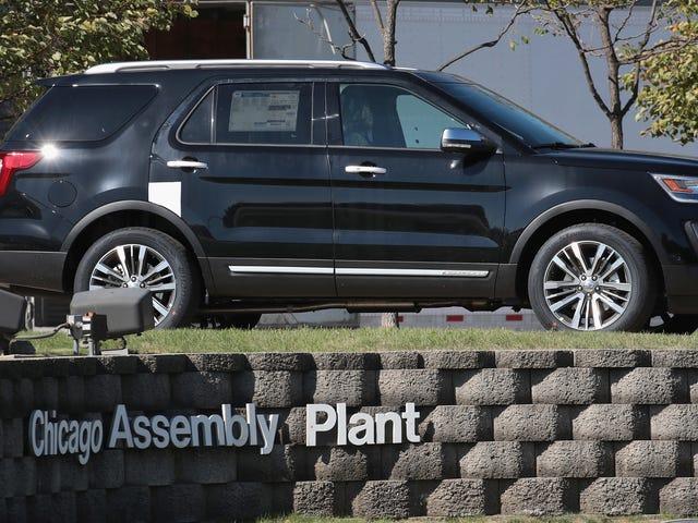 1,2 milhão de Ford Explorers recordados devido a fratura de suspensão