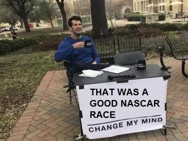 That was good NASCAR