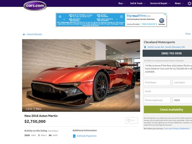 The craziest cars.com listing