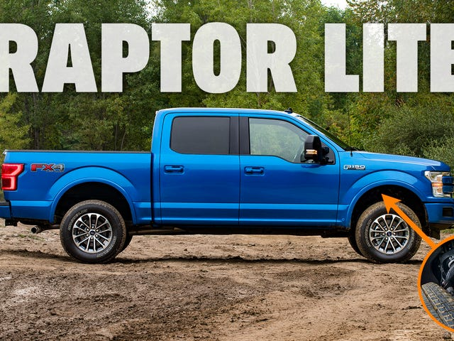 Ford 'Raptor Lite' hizo versiones de Ford F-150 y Ranger con nuevas actualizaciones de fábrica