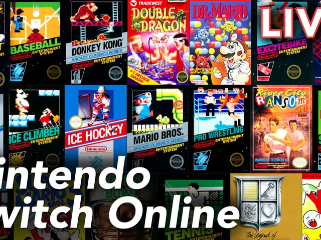 We're checking out the new Nintendo Switch Online service live on Twitch