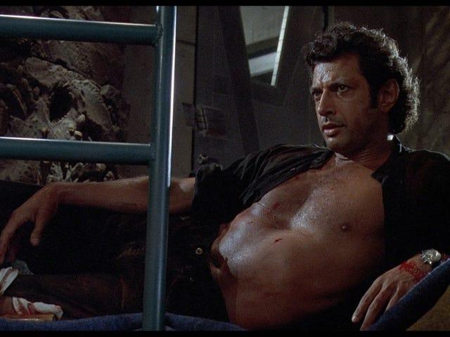 Jeff Goldblum ohne Hemd ist in <i>Jurassic Park</i> jetzt eine riesige Statue. Lassen Sie uns alle als Gott verehren