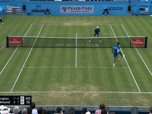 Nick Kyrgios Goes Through The Legs, Up And Over