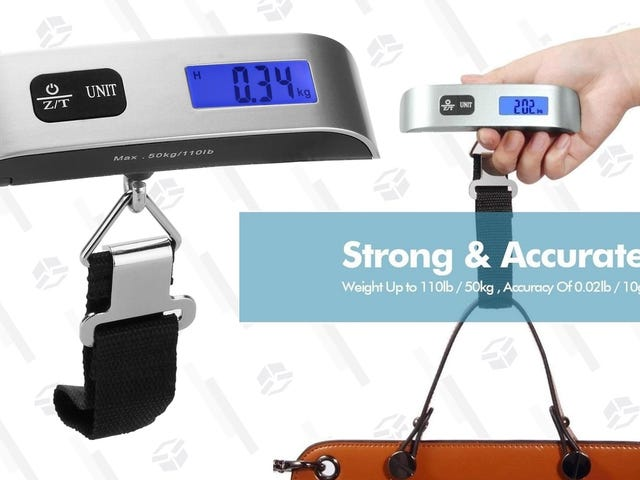 Avoid Overweight Baggage Fees With This $7 Scale