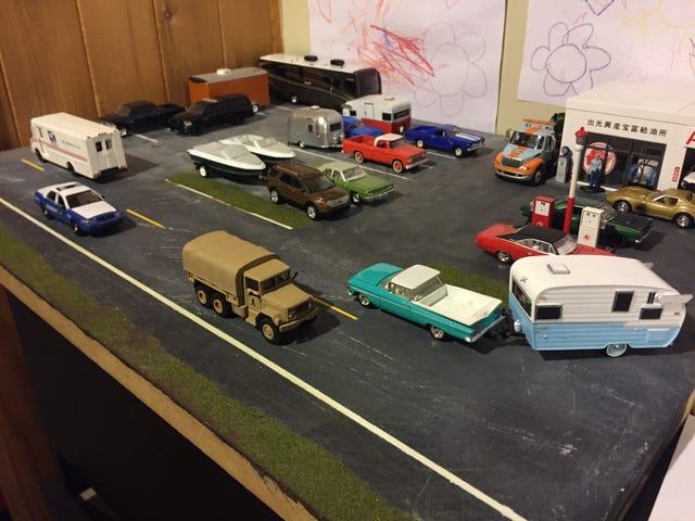 Диорама: поменялись местами автомобили