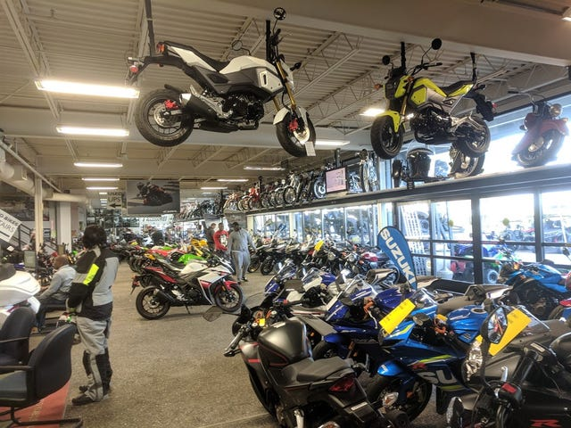 The best motorcycle display ever