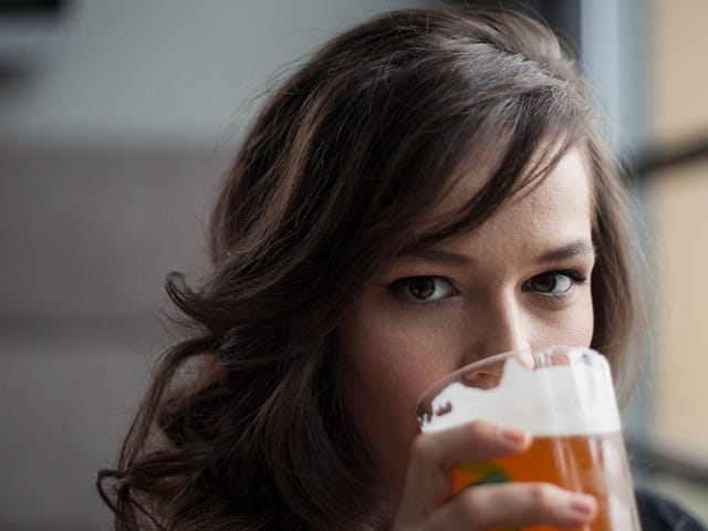 Just holding a beer makes women appear less human, study finds