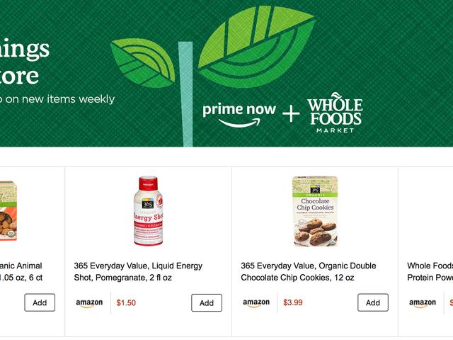Ahorre $ 10 en su primer orden de Prime Now, ahora con un montón de favoritos de Whole Foods
