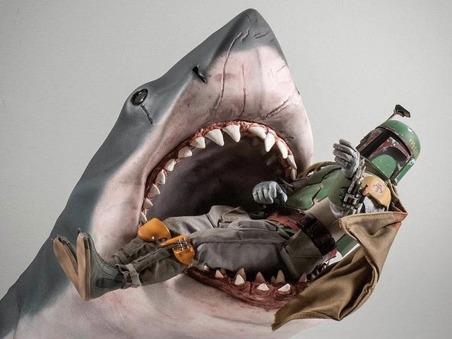 You Can Customize the Level of Gore Detail On This <i>Jaws</i> Shark Bust