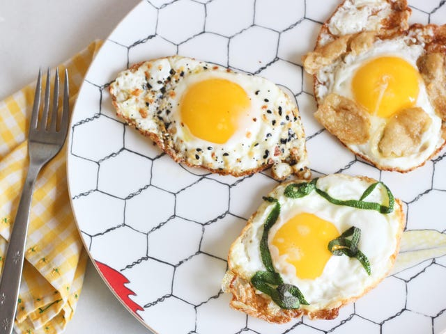 Fry Herbs and Seasonings Directly in the White of Your Egg