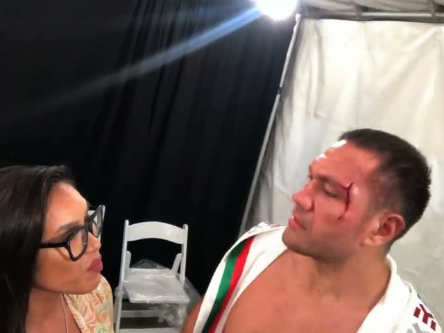 Boxer Kubrat Pulev Forcefully Kisses Reporter During Post-Fight Interview
