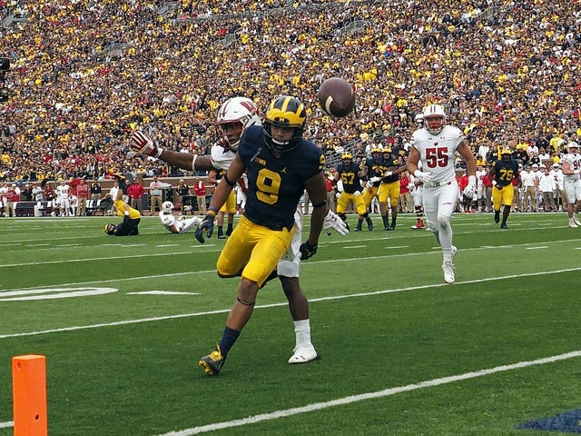 Michigan Wide Receiver Grant Perry Back With Team With Criminal Sexual Conduct Case Pending