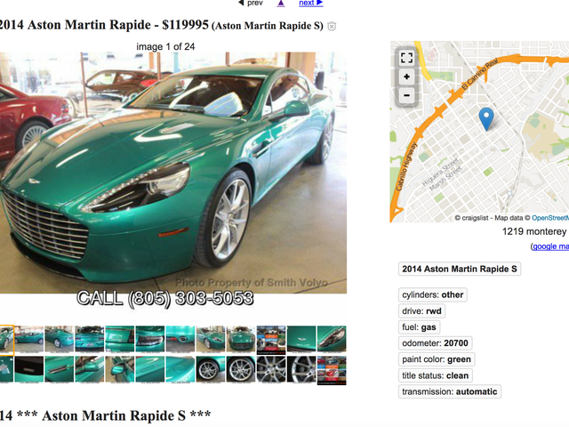 To the Judgement of the Oppos - 2014 Aston Rapide in WTF color both exterior and interior - $120K