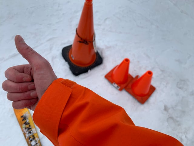 I Am A Traffic Cone With Skis (Updated with More Orangeness)