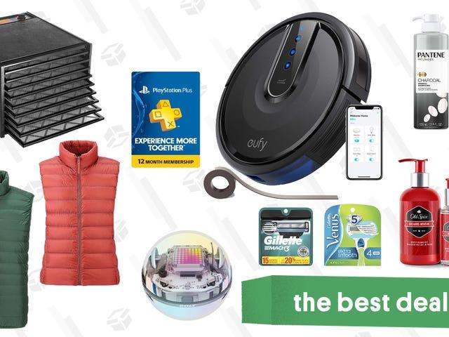 """<a href=https://kinjadeals.theinventory.com/mondays-best-deals-uniqlo-vests-playstation-plus-euf-1832868589&xid=17259,15700023,15700186,15700190,15700256,15700259,15700262 data-id="""""""" onclick=""""window.ga('send', 'event', 'Permalink page click', 'Permalink page click - post header', 'standard');"""">Melhores ofertas de segunda-feira: Uniqlo coletes, PlayStation Plus, Eufy RoboVacs, Sphero e muito mais</a>"""