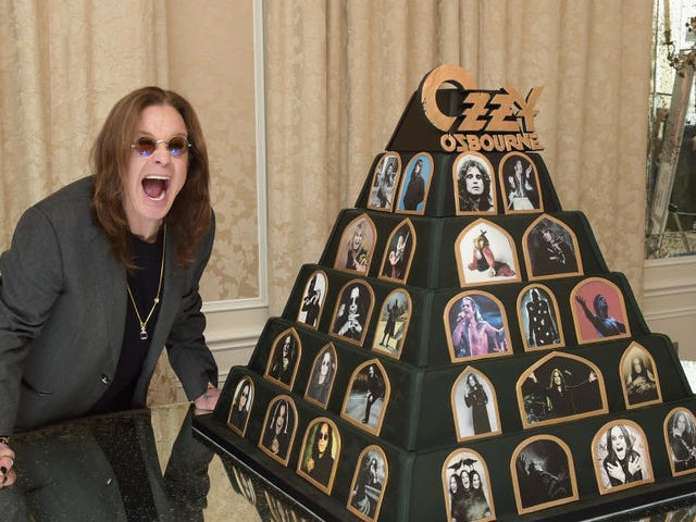 Ozzy Osbourne, Prince of Darkness, selling cute plushy commemorating the time he bit off a bat's head