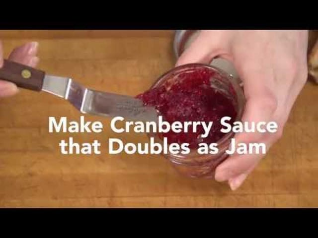 Make a Cranberry Sauce that Doubles as a Jam