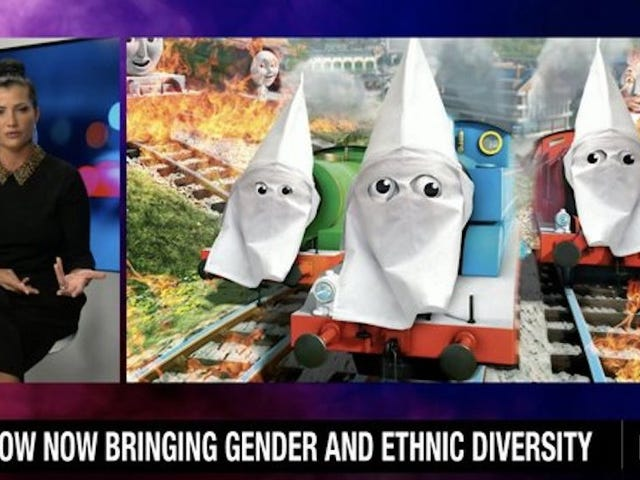 The NRA is So Mad About Thomas the Tank Engine's Black Friends, They Put a KKK Hood on Him