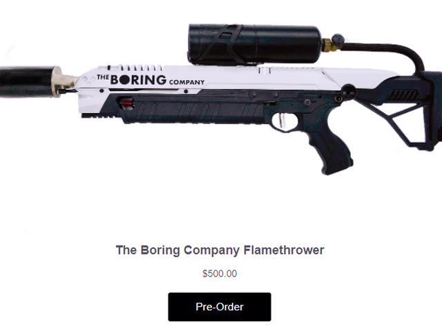 Elon Musk Would Like to Sell You a Flamethrower