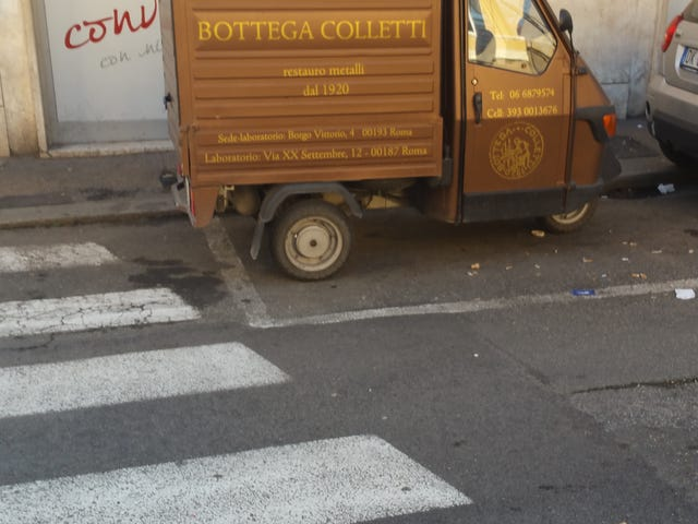 Spotted these brown automobiles in Rome.