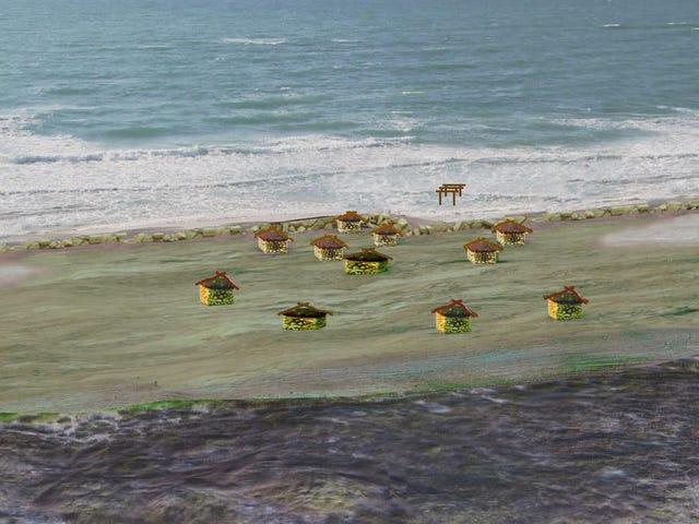 Con người thời tiền sử đã xây dựng một bức tường để tránh xa biển nhưng không thành công