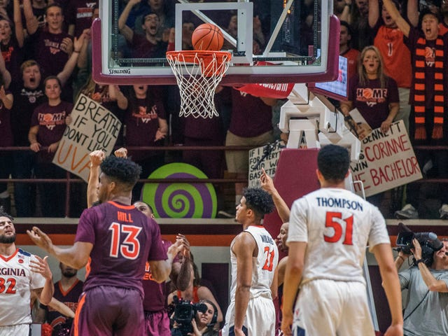 Virginia Tech Upsets Virginia With A Little Help From Gravity