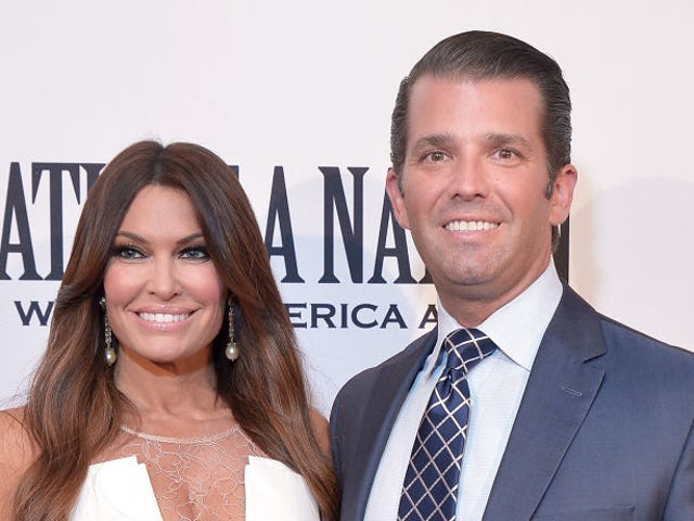 Donald Trump Jr. and his new girlfriend have airbrushed their own faces to oblivion