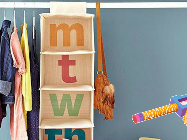 Prep Your Kid's School Outfits With Days-of-the-Week Shelves