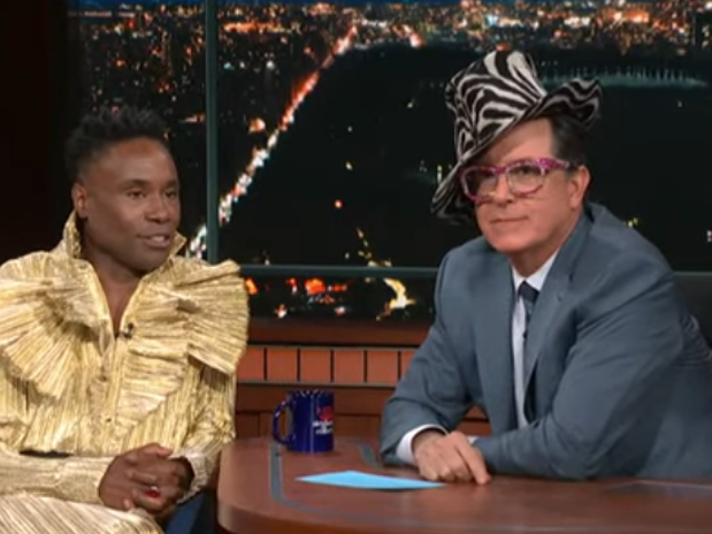 Pose's Billy Porter teaches Stephen Colbert about the political power of a man in a dress