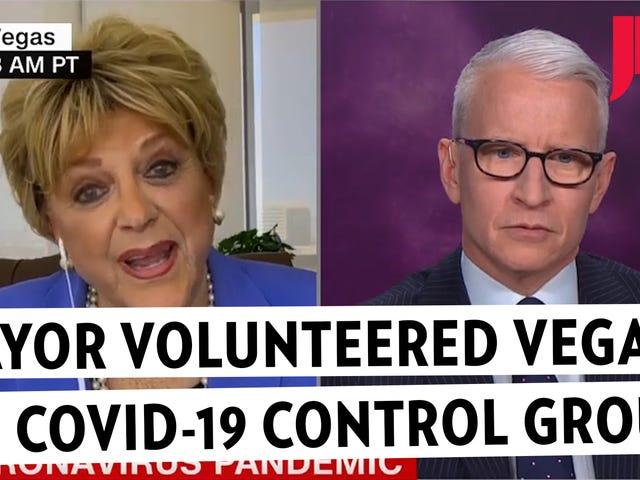 Thị trưởng Las Vegas cung cấp cho cư dân là những người hy sinh coronavirus trong cuộc phỏng vấn không mong muốn