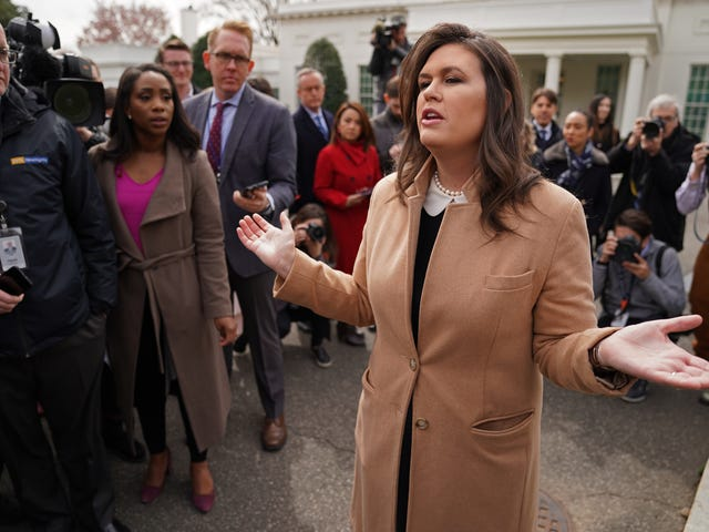Russia Report Catches Sarah Huckabee Sanders in a Lie and When Pushed on It, She Lies Again