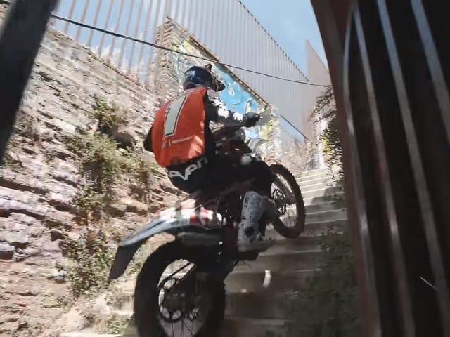 Riding Up The Tight City Streets of Valparaiso Looks Wicked