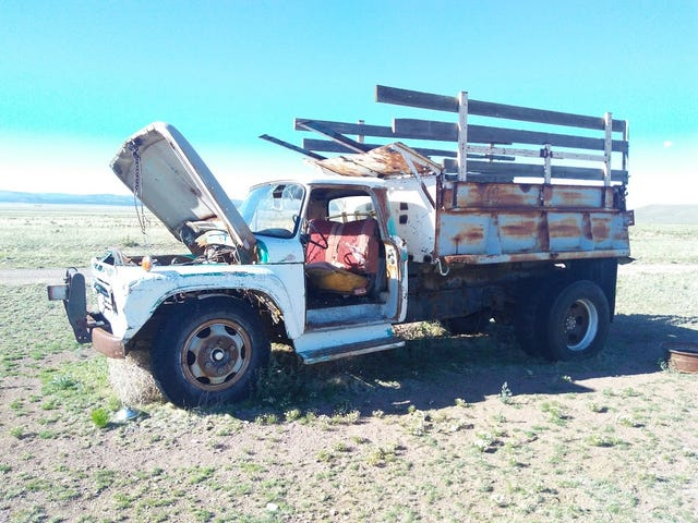 The old trucks of the San Mateo mountains