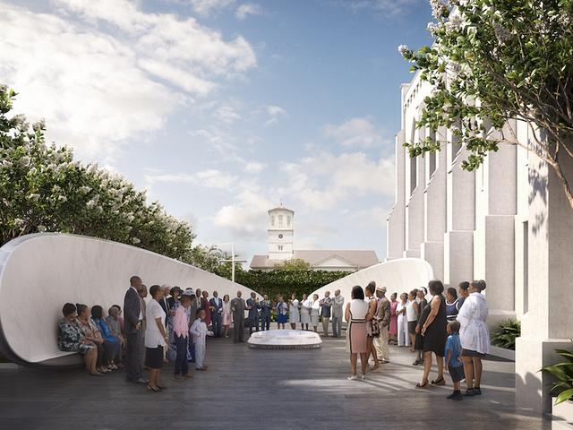 Enthüllungsentwurf für vorgeschlagenes Denkmal in Emanuel AME Church, Standort des schrecklichen Charleston, SC Shooting