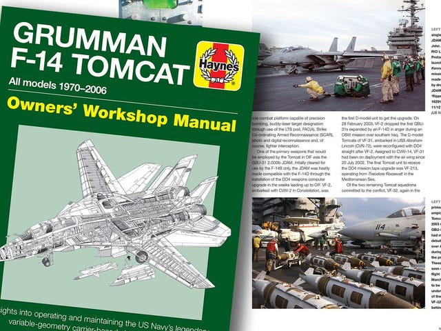 Ada Sekarang Manual Perbaikan Haynes Untuk Tomcat F-14