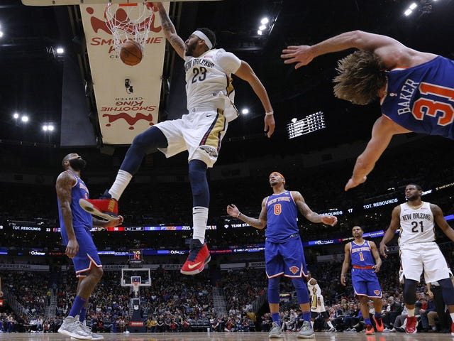 Anthony Davis Turned Ron Baker Into Flying Shrapnel