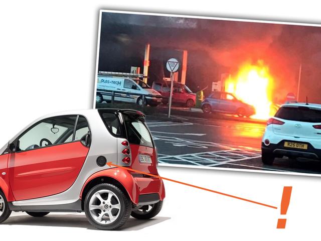 Carro inteligente explode quando o motorista preenche o buraco errado com gás, mas eu culpo o projeto ruim