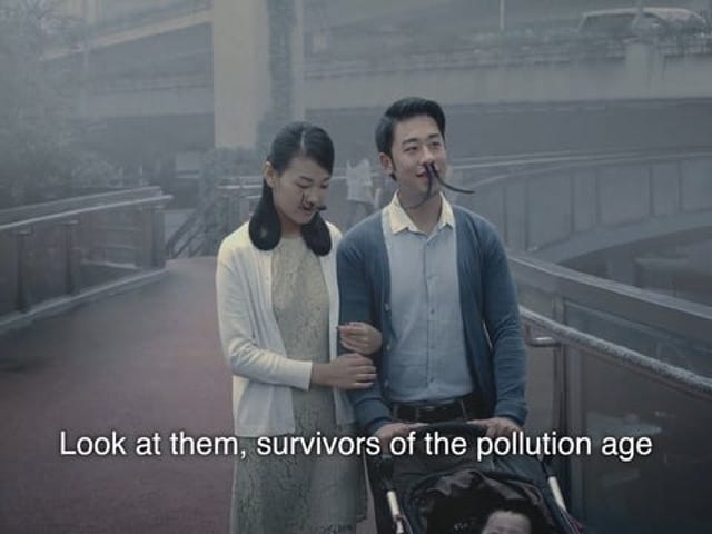 'Håret næse' Ad bekæmper forurening i Kina ved at skildre en fremtidig dystopi