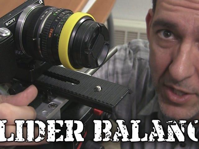 मैक्रो फोकसिंग रेल के साथ अपने कैमरे के स्लाइडर को संतुलित और चिकना रखें