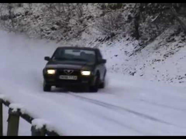 Watch An Alfa Romeo Snow Drift Its Way Into Your Heart