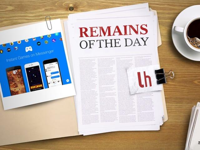 Überreste des Tages: Facebook fügt Instant Games zu Messenger und News Feed hinzu