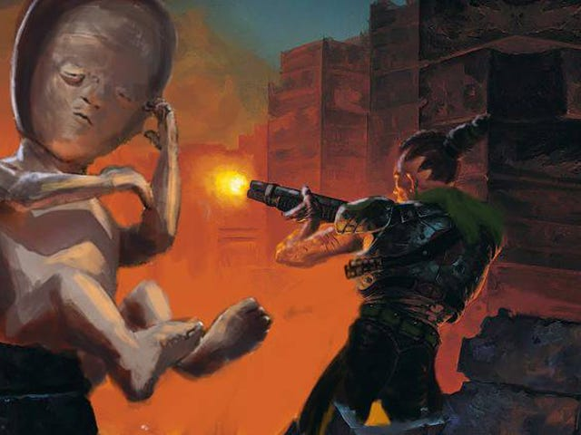 In Argentina, A Pro-Choice Advocate Protests With A Doom Mod