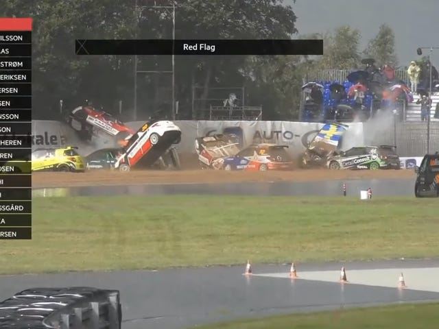 Citroën DS3 Cup Race Red Flagged After Over Half The Field Crashes On The Same Corner