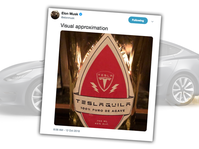 This 'Teslaquila' Should Be Just the Thing to Keep You Drunk While You Wait for That $35,000 Model 3