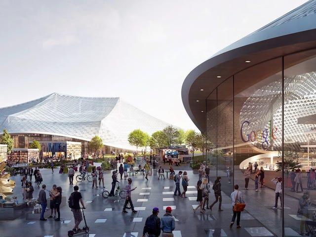 Le nouveau campus fou de Google sera recouvert de dômes géants canopés