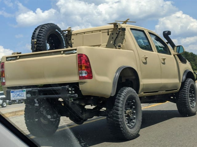 Check Out This Militarized Toyota Hilux and Its Weird Door Handles