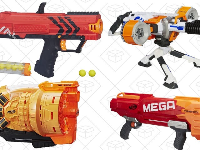 Dominate Your Next Office Nerf War With These Discounted Blasters