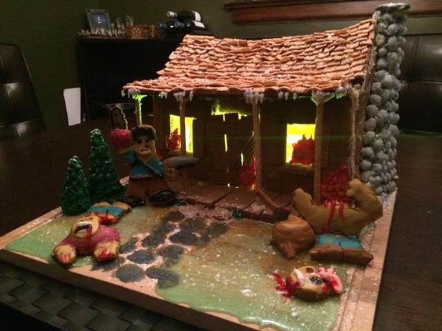 AmazingAsh vsEvil Dead Gingerbread House Is the Grooviest Reason for the Season